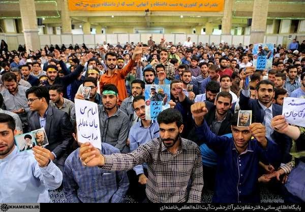 عکس/ دیدار دانشجویان با رهبر انقلاب