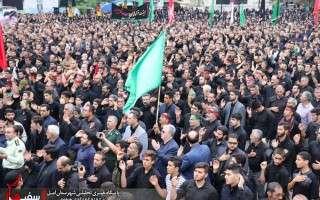 حماسه حضور مردم هزار سنگر آمل در اجتماع بزرگ بصیرت عاشورایی+گزارش تصویری