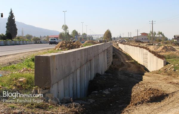 تصویر مربوط به بهمن ماه سال 95 یک سال بعد از آغاز احداث پروژه میباشد