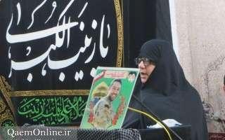 مراسم وفات حضرت زینب (س) با حضور مادر شهید مدافع حرم حسین مشتاقی در قائمشهر برگزار شد