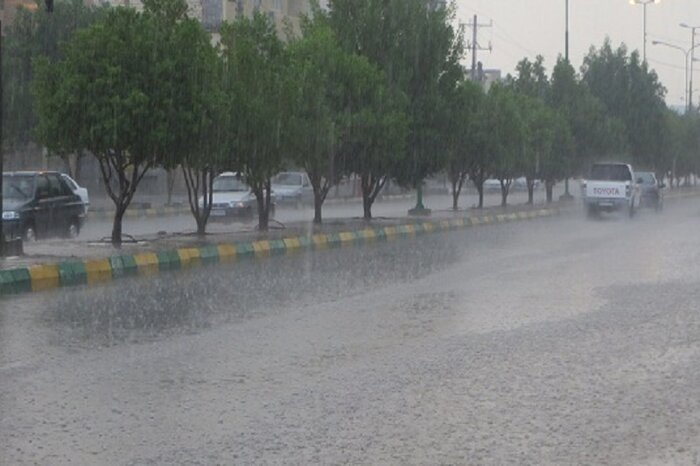 باران تابستانی در مازندران