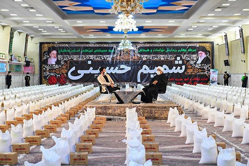 توزیع ۱۴ هزار بسته معیشتی در رزمایش شمیم حسینی