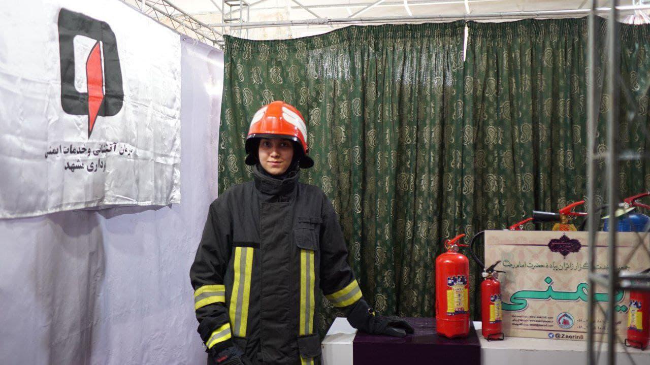 تنها بانوی آتشنشان مازندرانی در آتش بیمهری مسئولان