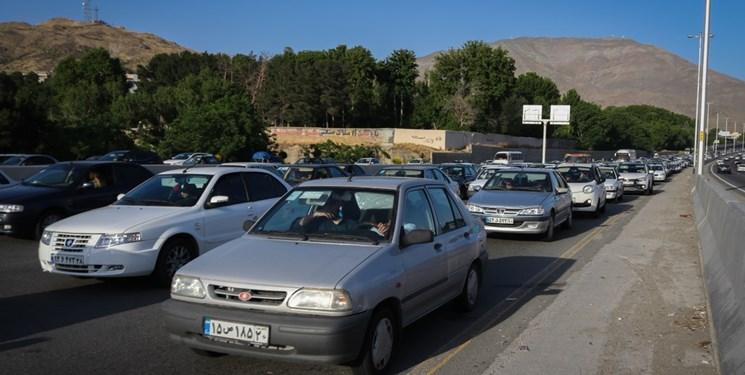 ترافیک جاده کندوان در روزهای ابتدایی پاییز
