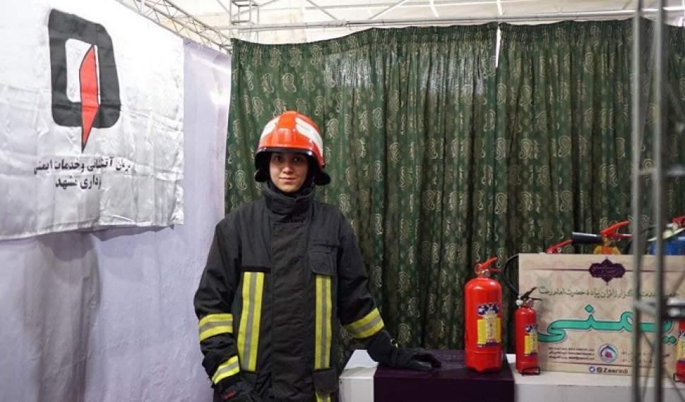 تنها بانوی آتشنشان مازندرانی در آتش بیمهری مسئولان/ سختیهای آتشنشانی برای خانمها