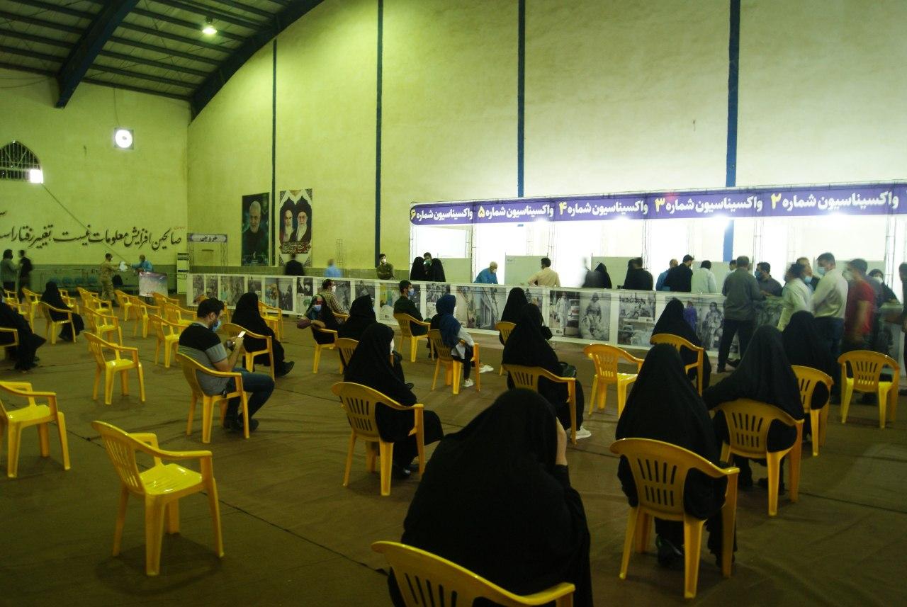 واکسینهشدن روزانه ۱۴ هزار نفر در مراکز تجمیعی سپاه کربلا